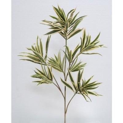 ソングオブインディア(グリーンイエロー) 2本入り (造花 インテリア ドラセナスプレー  飾り 人工観葉植物)