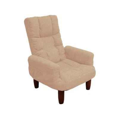 座椅子 おしゃれ リクライニング式シンプル高座椅子 カラー 「ベージュ」