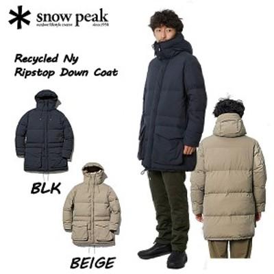 【SNOW PEAK】スノーピーク 2020秋冬 SNOW PEAK Recycled Ny Ripstop Down Coat スノーピークリサイクルNyリップストップダウンコート メ