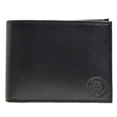 ディーゼル DIESEL メンズ 二つ折り財布 ブラック x05082-p1508-t8013