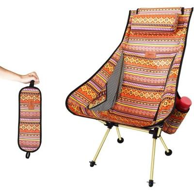DesertFox アウトドアチェア 折りたたみ 枕付き 超軽量【ハイバック】【 選べる6色】【耐荷重150kg】 コンパクト イス 椅子 収納袋付属