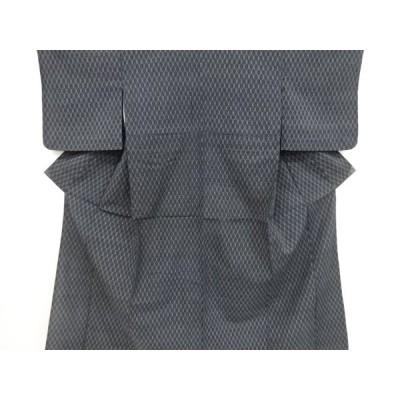 リサイクル 抽象模様織り出し本塩沢単衣着物