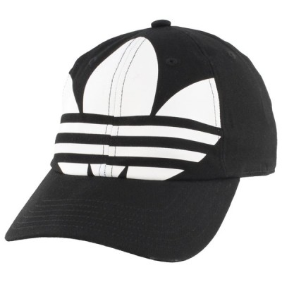 アディダス adidas Originals メンズ キャップ 帽子 relaxed big trefoil strapback Black/White