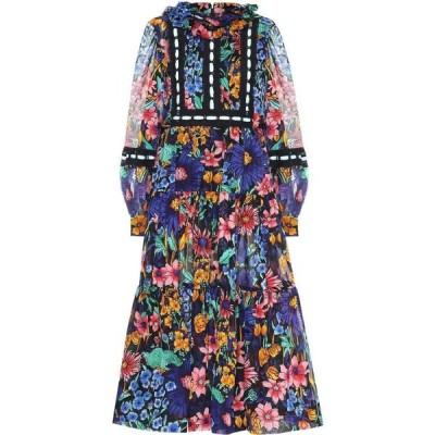 マーク ジェイコブス Marc Jacobs レディース ワンピース ミドル丈 ワンピース・ドレス Cotton-voile floral midi dress Black Multi