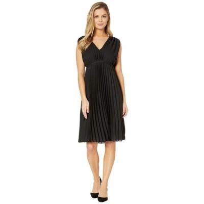 マックススタジオ レディース ワンピース トップス Sleeveless V-Neck Pleated Dress
