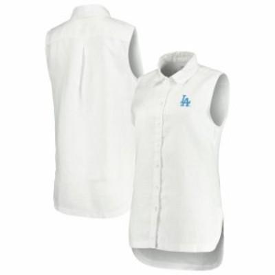 Tommy Bahama トミー バハマ スポーツ用品  Tommy Bahama Los Angeles Dodgers Womens White Sport Sea Glass Breezer Full-