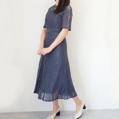 インシード(INCEDE)/[洗える][S-4L]総レースロングドレス