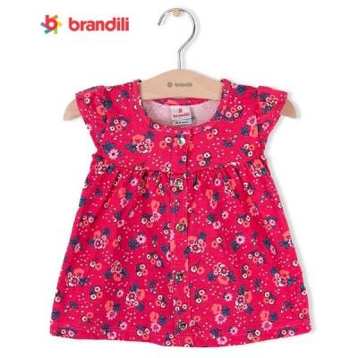 【BRANDILI】女の子ベビーワンピース【普段着・可愛い】小花柄|マゼンダ