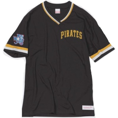 (Medium) - Mitchell & Ness Pittsburgh Pirates MLB Men's Overtime Win Vintage Tee 2.0 並行輸入品