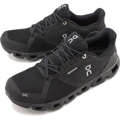 オン On スニーカー クラウドフライヤー ウォータープルーフ M Cloudflyer Waterproof 21.99624 FW20 防水 ランニングシューズ 靴 ブラック ルナ ブラック系