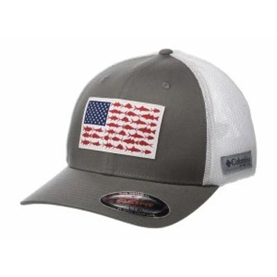 コロンビア メンズ 帽子 アクセサリー PFG Mesh Fish Flag Ball Cap Titanium/White