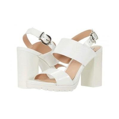 Steve Madden スティーブマデン レディース 女性用 シューズ 靴 ヒール Emil Heeled Sandal - White Leather