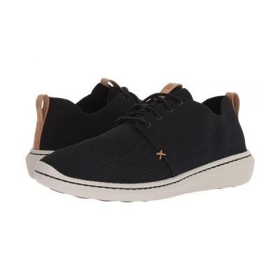 Clarks クラークス メンズ 男性用 シューズ 靴 スニーカー 運動靴 Step Urban Mix - Black Textile Knit