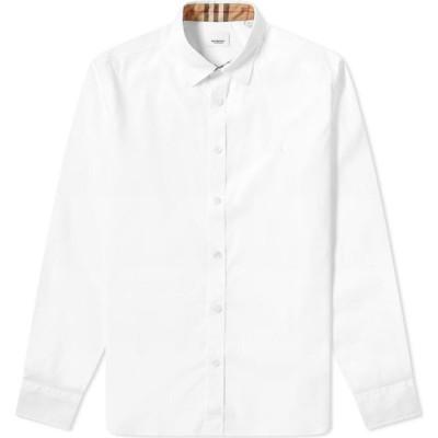 バーバリー Burberry メンズ シャツ トップス Sherwood Logo Shirt White