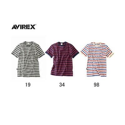 [アヴィレックス]半袖ボーダー Tシャツ DAILY RIB CREWNECK BORDER TEE 6163371 メンズ