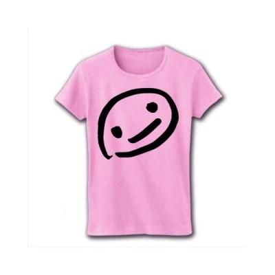 ニコニコ リブクルーネックTシャツ(ライトピンク)