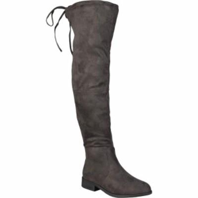 ジュルネ コレクション Journee Collection レディース ブーツ シューズ・靴 Mount Boot - Wide Calf Grey