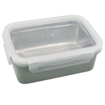 ステンレススチール製のランチボックスピクニック用の食品収納容器ブルーシングル