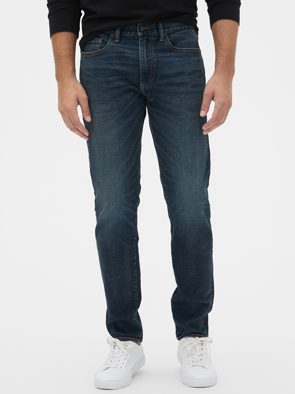男裝 棉質水洗五口袋牛仔褲