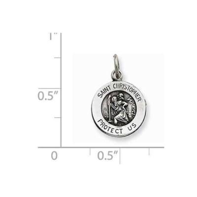 ヴェルシル ファインネックレス ペンダント Versil Sterling Silver Saint Christopher Medal Silver