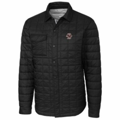 Cutter & Buck カッター アンド バック スポーツ用品  Cutter & Buck Boston College Eagles Black Rainier Full-Snap Shirt Jacket