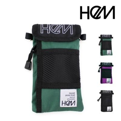 HeM(ヘム) トラベルウォレット(縦型) LOGOSERIES HEM-W014-BK 2020AW レディース サコッシュ バッグ bag