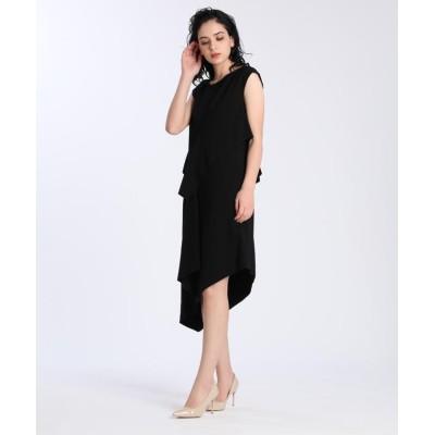 【エフデ】 《M Maglie le cassetto》アシンメトリーデザインドレス レディース ブラック 07 ef-de