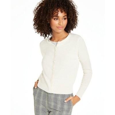チャータークラブ ニット&セーター アウター レディース Cashmere Essential Cardigan Bianco Crema
