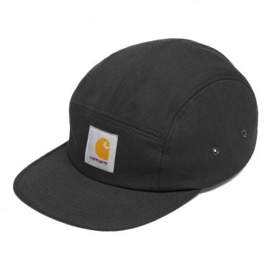 カーハート メンズ バックレー キャップ 5パネル ジェットキャップ ブラック 帽子 CARHARTT WIP BACKLEY CAP BLACK I016607