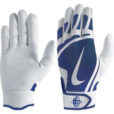 ナイキ Nike ユニセックス 野球 バッティンググローブ グローブ Adult Huarache Edge Batting Gloves White/Royal