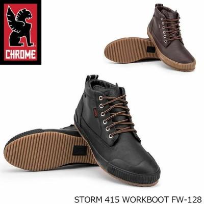 クローム CHROME メンズ レディース ワークブーツ STORM 415 WORKBOOT ストーム 415 ワーク ブーツ レザー  防水 ブラック 黒 アンバー CRMFW128 国内正規品