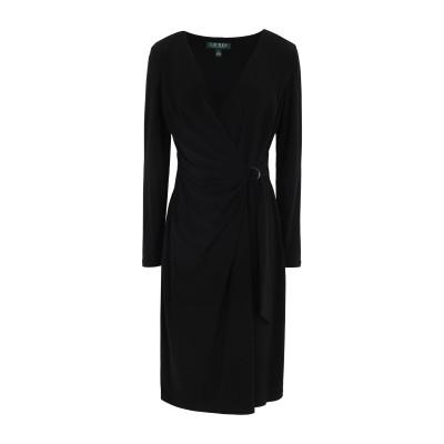 LAUREN RALPH LAUREN ミニワンピース&ドレス ブラック 2 ポリエステル 95% / ポリウレタン 5% ミニワンピース&ドレス