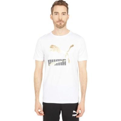 プーマ PUMA メンズ Tシャツ ロゴTシャツ トップス Classics Logo Tee Puma White