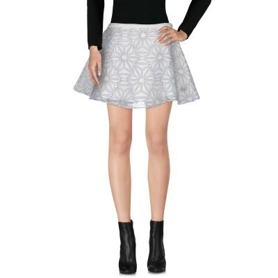 アトリエ フィックスデザイン ATELIER FIXDESIGN ミニスカート ホワイト M ポリエステル 95% / ポリウレタン 5% ミニスカ