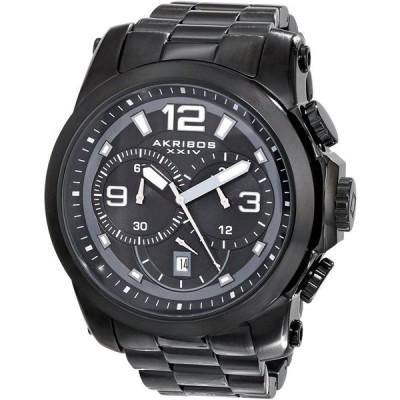 アクリボス Akribos XXIV 男性用 腕時計 メンズ ウォッチ クロノグラフ ブラック AK631BK