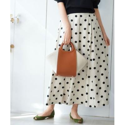 le.coeur blanc / ドットフロントタックロングスカート WOMEN スカート > スカート