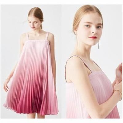 結婚式のお呼ばれ40代 結婚式のお呼ばれ30代 結婚式 ドレス お呼ばれ ワンピース 20代 グラデーション ピンク パーティードレス プリーツ