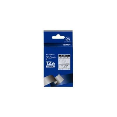 ブラザー P-Touch用・ラミネートテープ 透明/ 白文字 12mm TZe-135 返品種別A