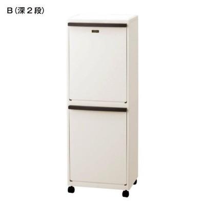 ゴミ箱 キッチン分別 分別ダストペール B 深2段