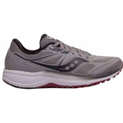 サッカニー メンズ スニーカー シューズ Saucony Men's Omni 19 Running Shoes Grey/Red