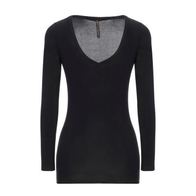 マニラ グレース MANILA GRACE T シャツ ブラック 1 レーヨン 96% / ポリウレタン 4% T シャツ
