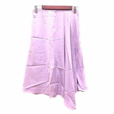 【中古】アダムエロペ Adam et Rope' フレアスカート ロング 38 紫 パープル ピンク /YK レディース