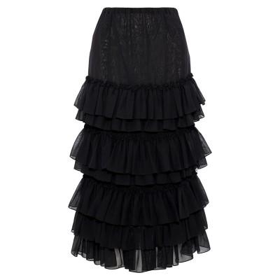 ロージー・アスリーヌ ROSIE ASSOULIN ロングスカート ブラック 2 コットン 100% ロングスカート