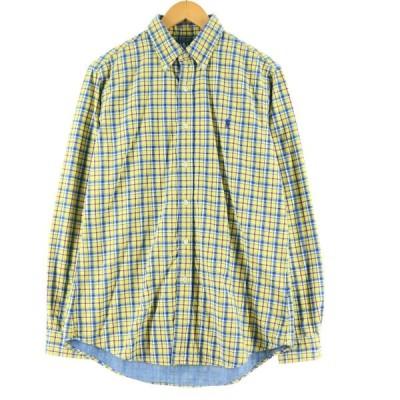 ラルフローレン Ralph Lauren 長袖 ボタンダウンチェックシャツ メンズM /eaa132669