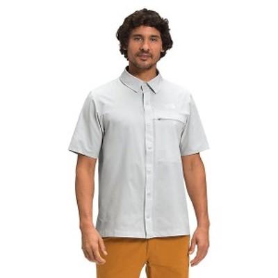 (取寄)ノースフェイス メンズ ファースト トレイル UPF ショートスリーブ シャツ The North Face Men's First Trail UPF SS Shirt Tin Gr