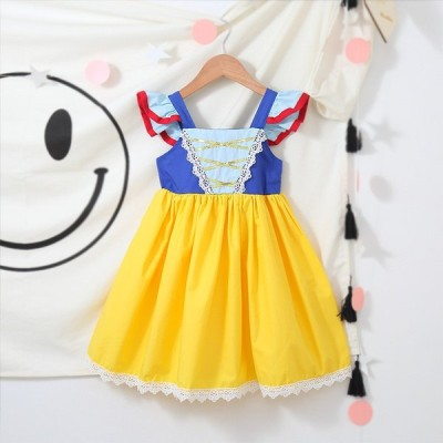 白雪姫 ドレス 仮装 キッズ コスチューム 女の子 ハロウィン プリンセスドレス   衣装 コスプレ ワンピース なりきり プリンセス 子供用 パーティー マーメイド