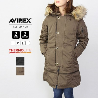 AVIREX レディース コート アヴィレックス アビレックス ミリタリーコート アウター CUSTOM N-3B 6282037A