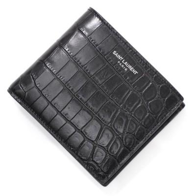 サンローラン SAINT LAURENT 2つ折り財布 小銭入れ付き  EAST/WEST ブラック メンズ 396303-dzede-1000