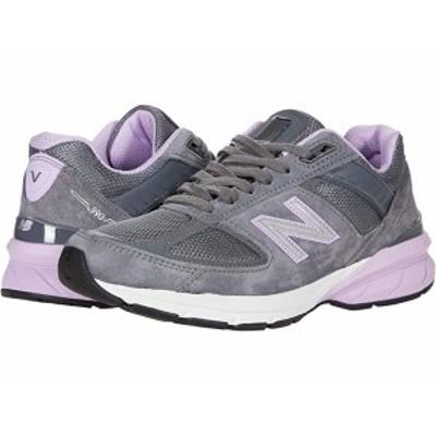 (取寄)ニューバランス レディース メイド US 990v5 New Balance Women's Made US 990v5 Lead/Dark Violet Glo