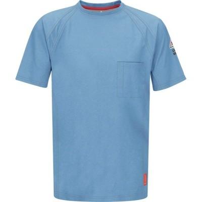 ブラウァーク シャツ トップス メンズ Bulwark Men's iQ Series Work T-shirt Blue